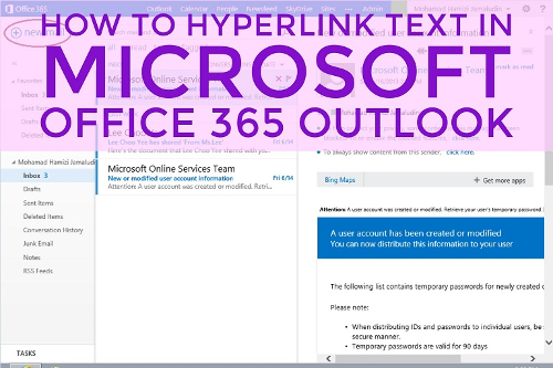 how to create a hyperlink in outlook
