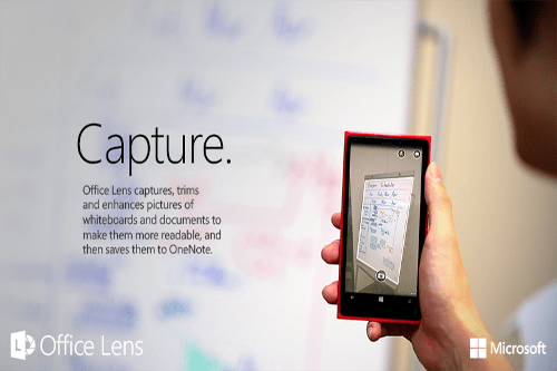 Office Lens Available on  iPhone and Android