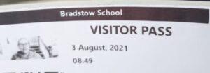 Carrie volunteered at the Bradstow School